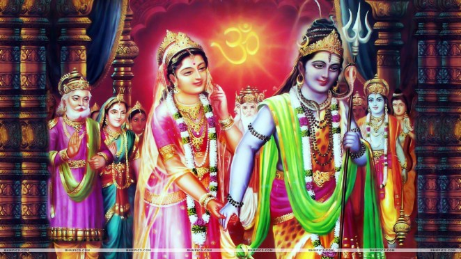 Marriage of Lord Shiva and Goddess Parvati