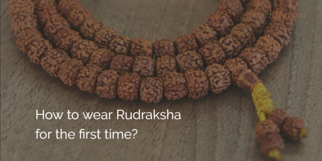 How to wear Rudraksha?
