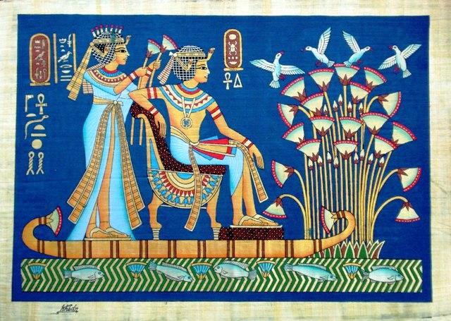Blue Lotus - Ancient Egypt Art