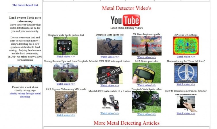 Garys Detecting video page