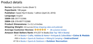 Amazon ranking status for Metal Detecting for Beginners