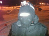 Me nighthawking the beach in 5 degree weather.