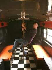 Jeff on the Blackthorne bus circa 2017