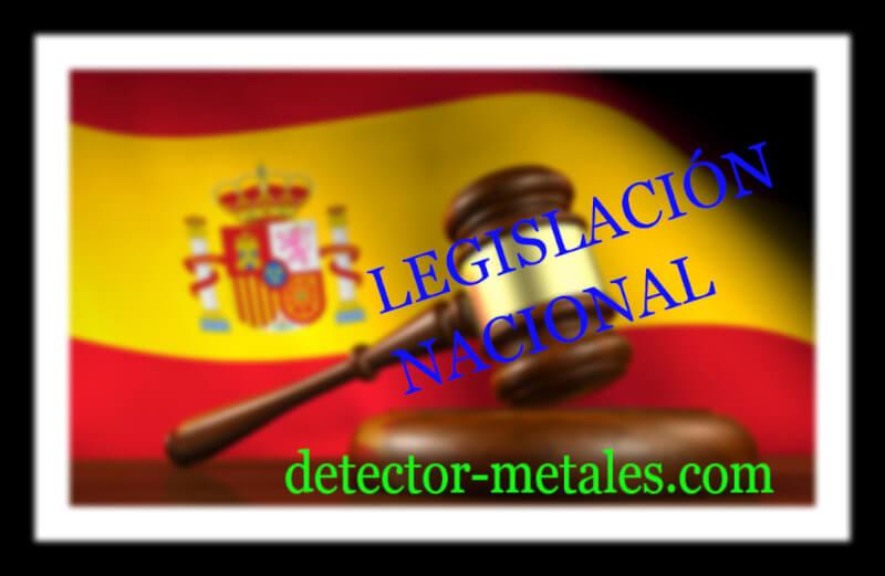 legislación nacional detector de metales