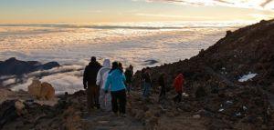 Coucher de soleil sur le volcan el teide