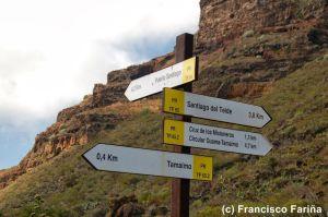 Trekking Santiago del teide  de l´île de Ténérife