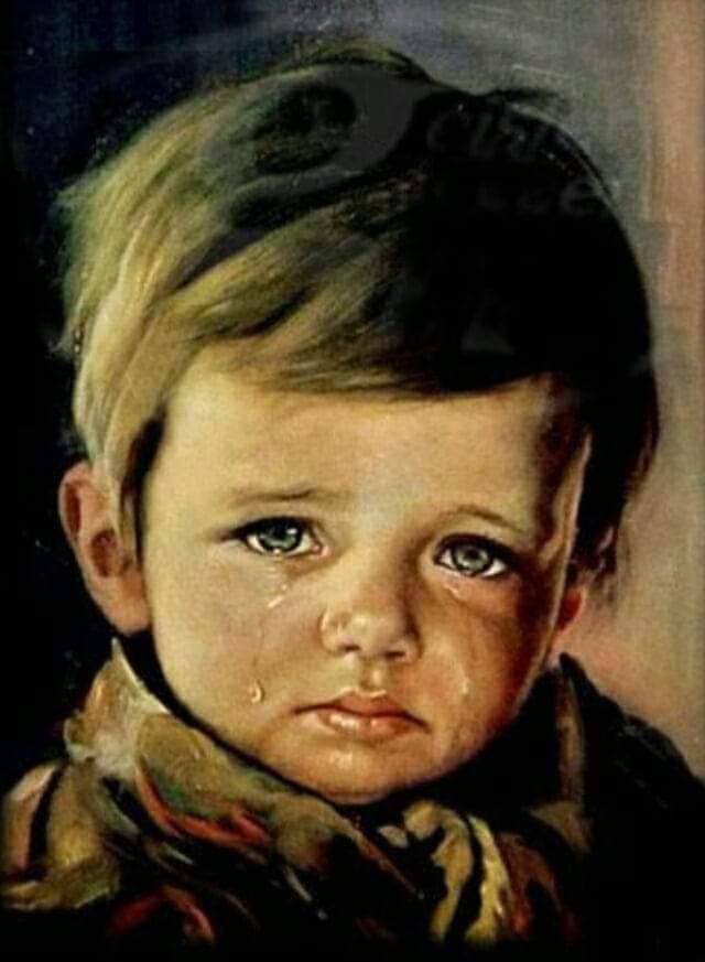 cuadros malditos niño lloron