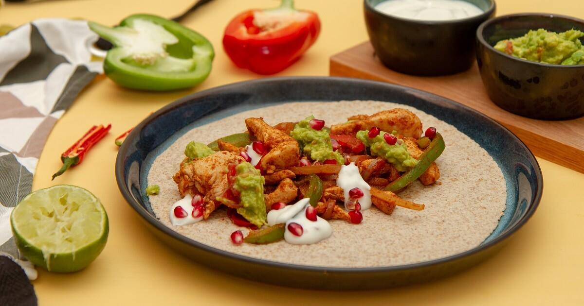 Fajitas med hjemmelaget krydderblanding