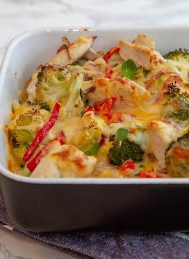 Kylling i form med grønnsaker