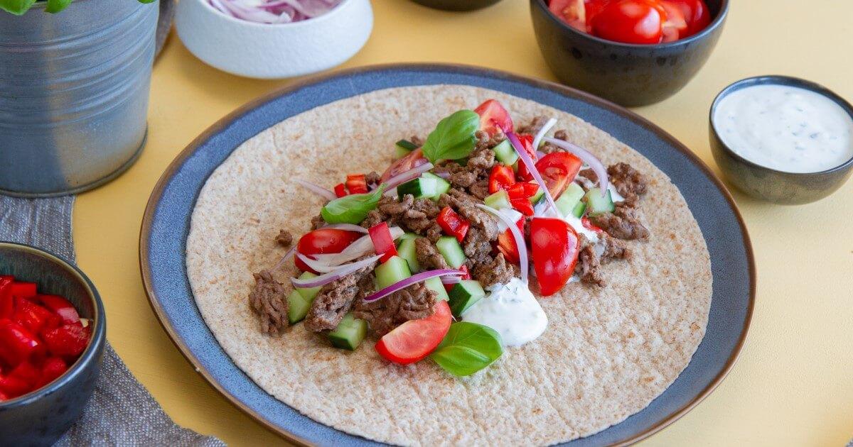 Tacowraps med hvitløksdressing - fb