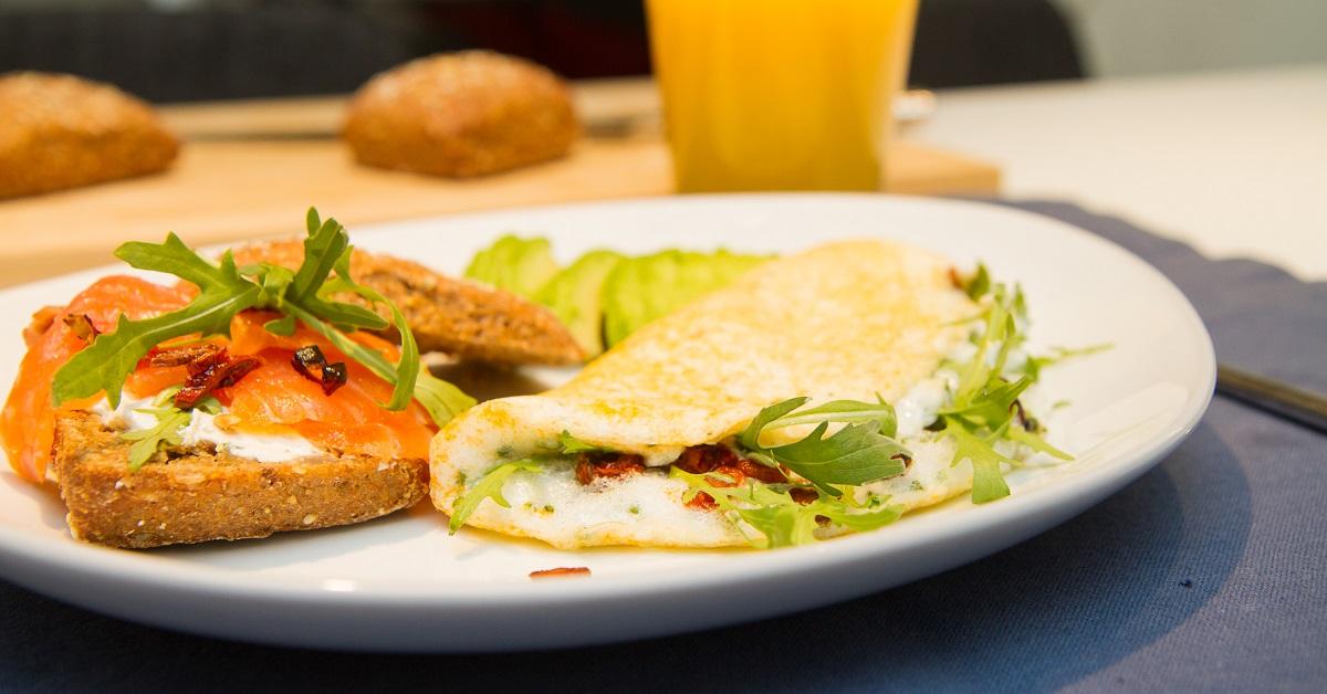 Omelett av eggehviter