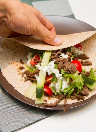 Gresk wraps med tzatziki