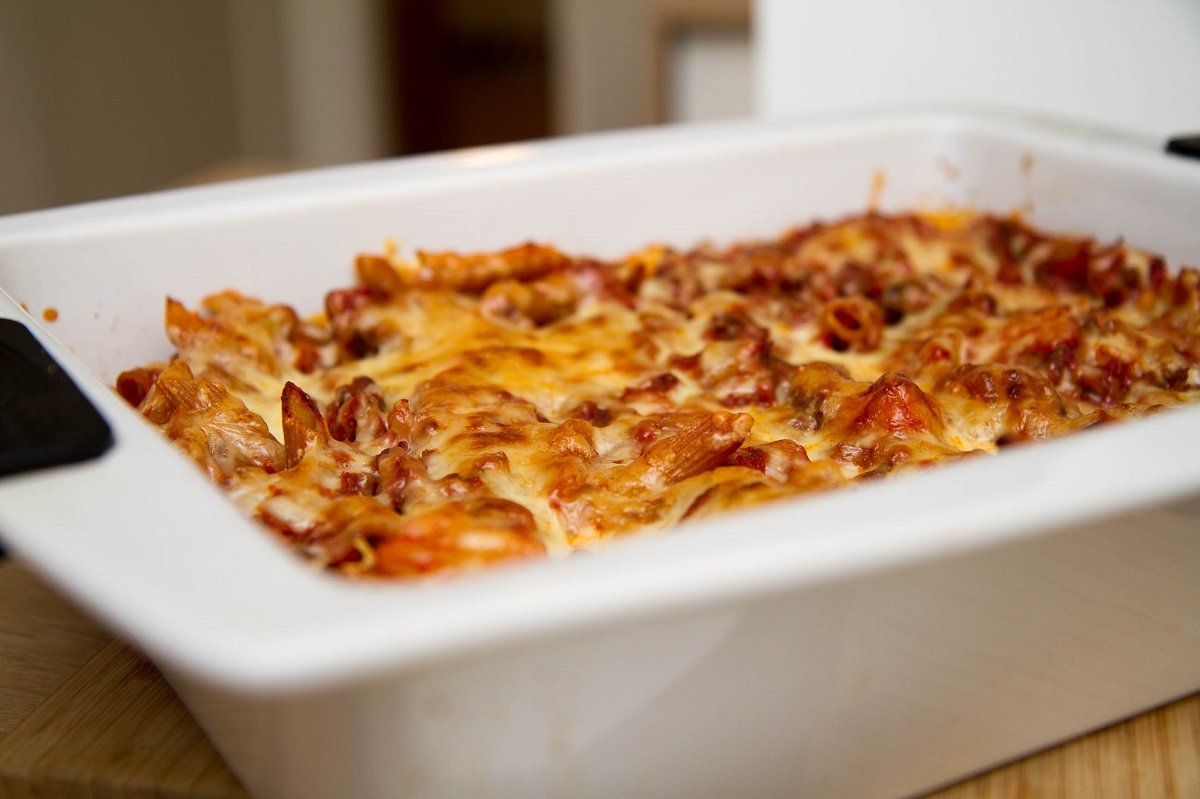 Pastaform med karbonadedeig og chili