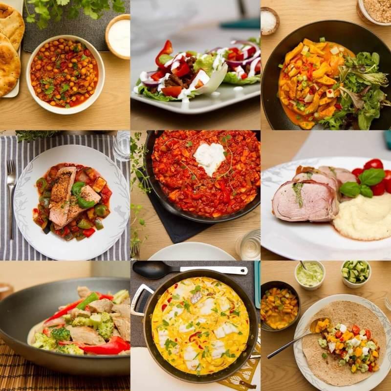 9 sunne og enkle middagsretter