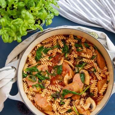 Pølsegryte med pasta