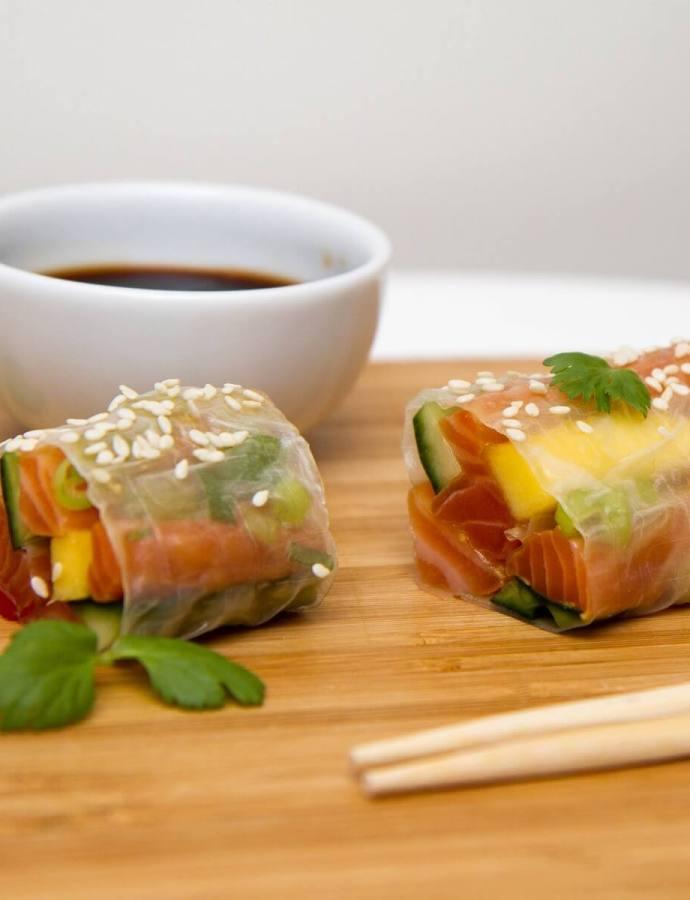 Sashimiruller med avokado og mango