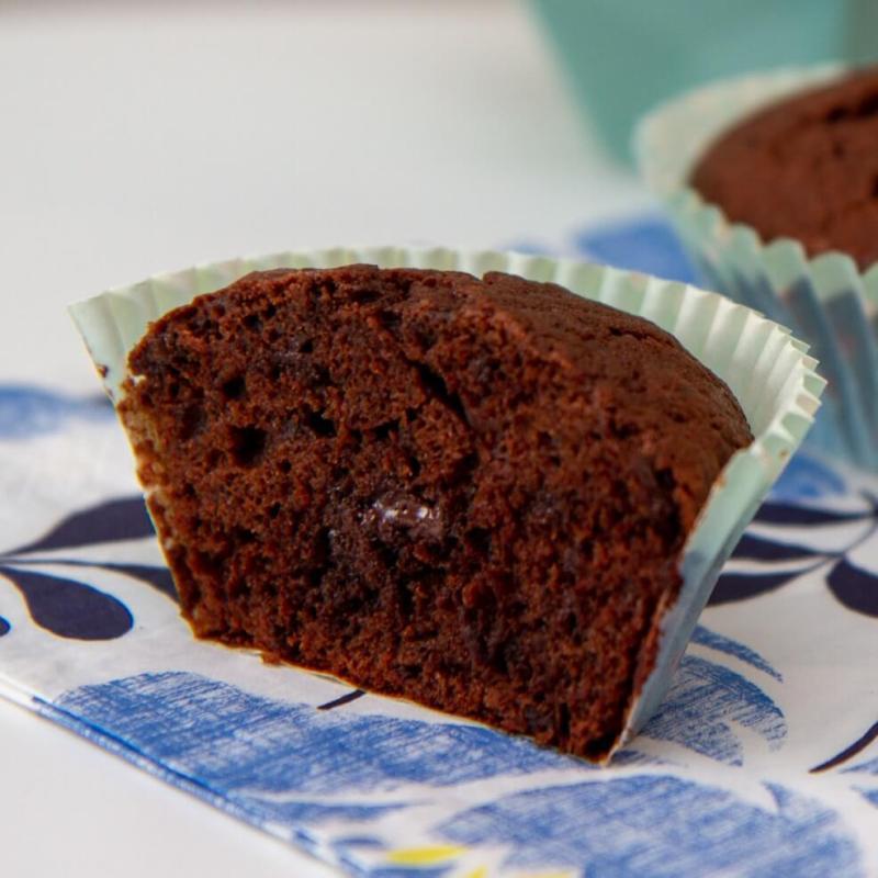 Sjokolademuffins med sjokoladebiter