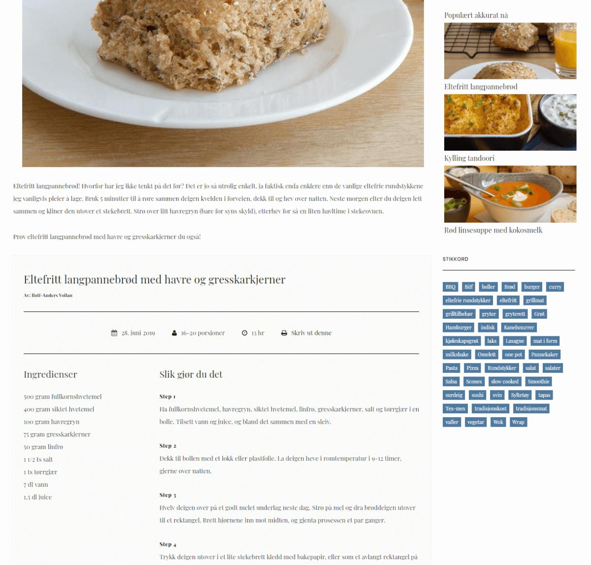 Det glade kjøkken - oppskrift