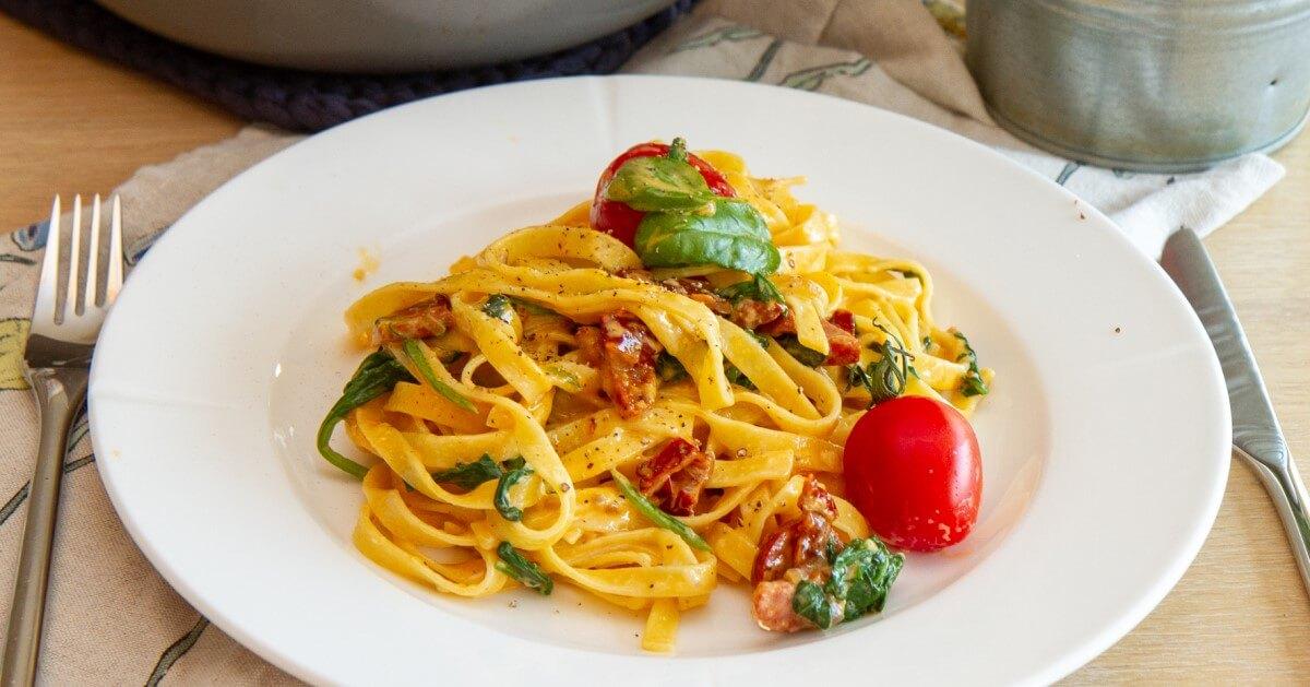 Kremet pasta med chorizo
