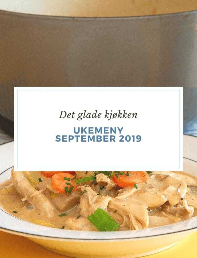 Ukemeny med høstens råvarer – september 2019