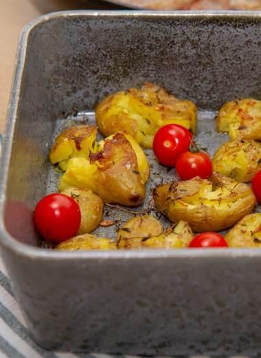 Knuste sprø poteter