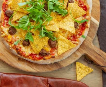 Tacopizza med tortillachips