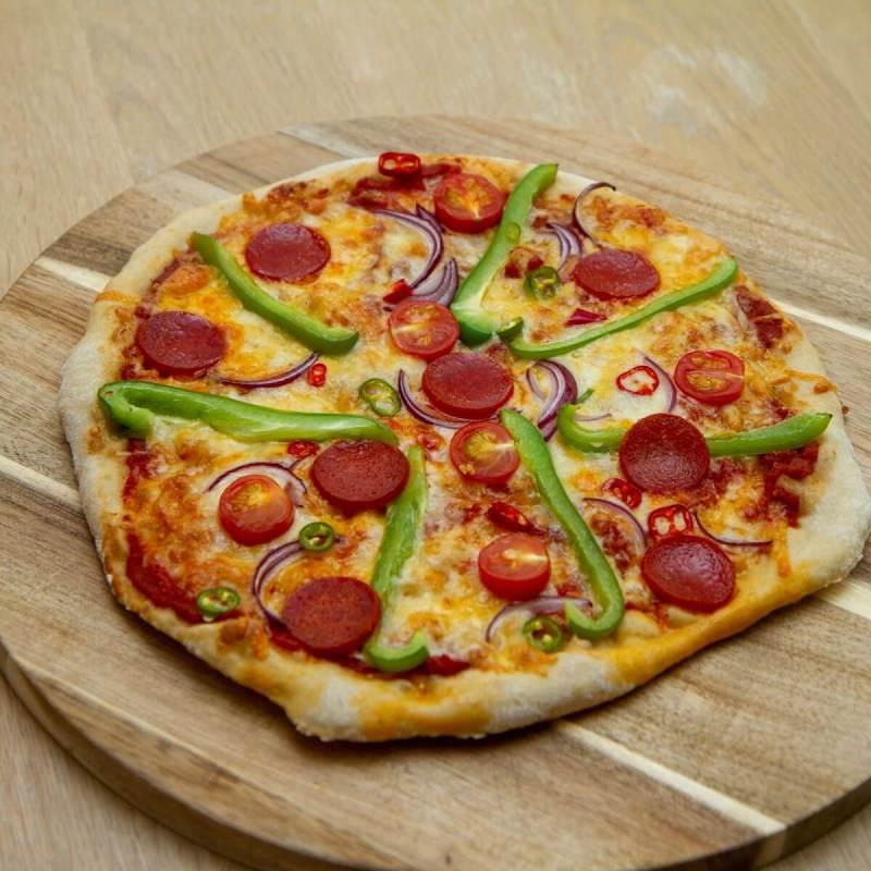 Nystekt eltefri pizza