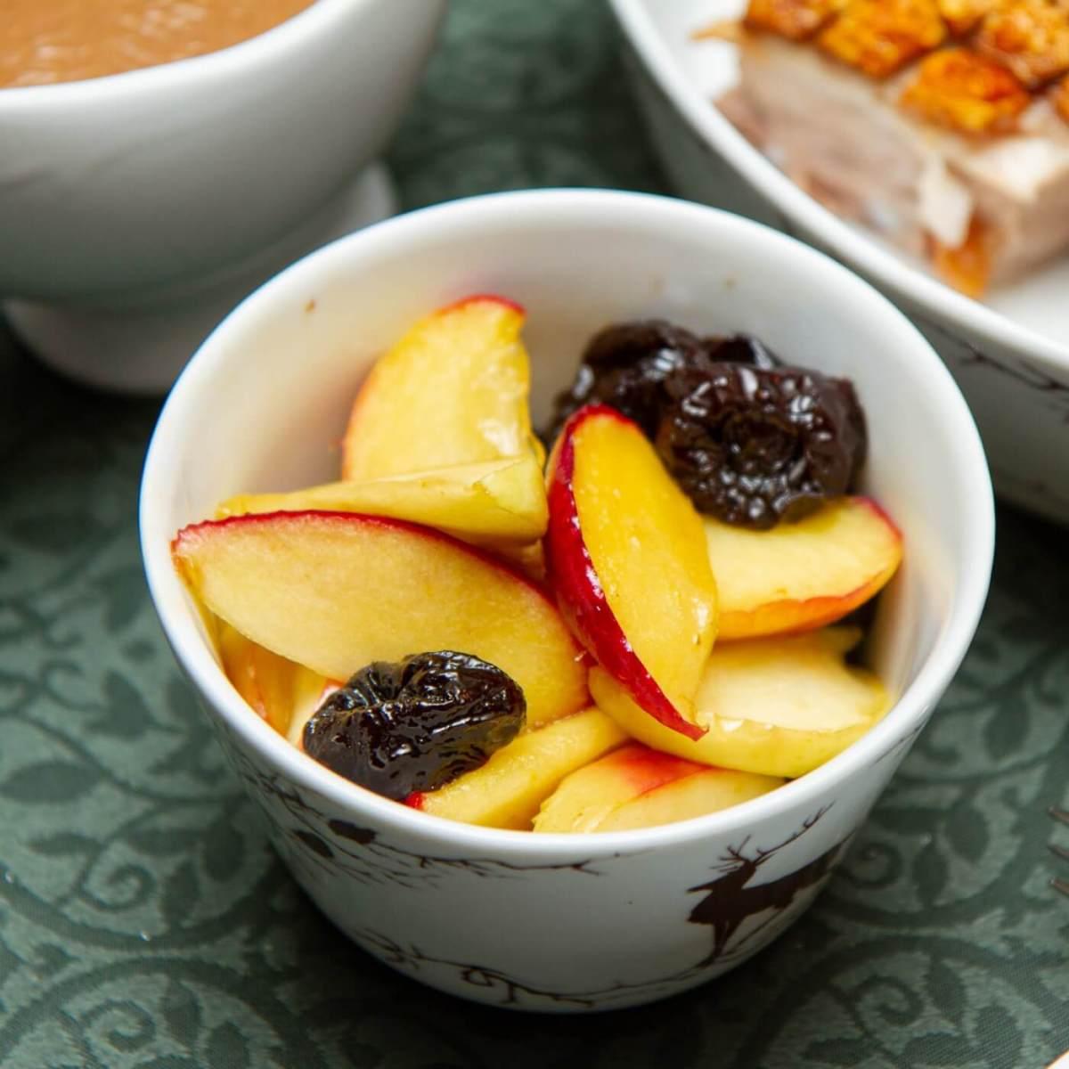 Honningstekte epler og svisker
