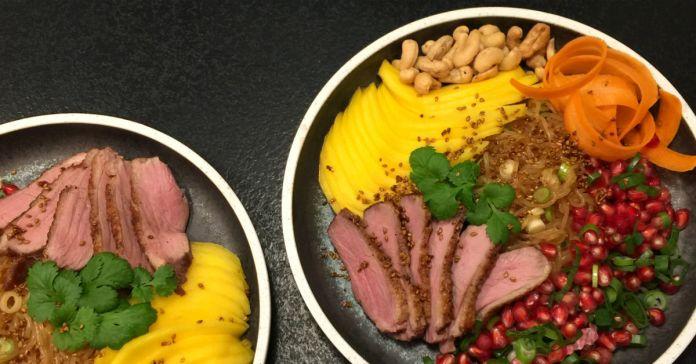 Asiatisk nudelsalat med and