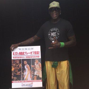 NBA2016プレーオフWOWOWにデニス・ロッドマンが!Kobeに苦笑い