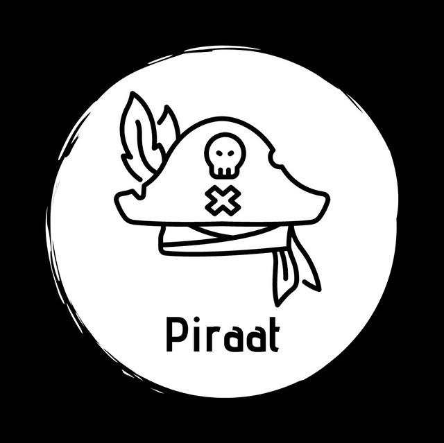 Piraat vierkant