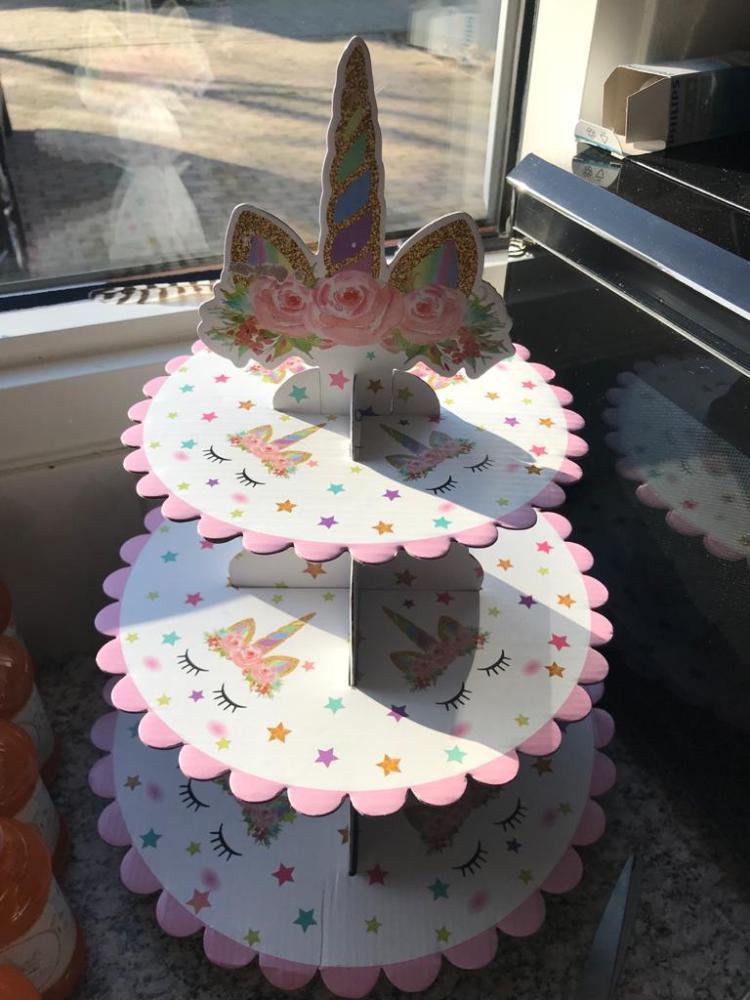 Unicorn cupcake standaard