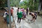Program Padat Karya Tunai, Warga Lawang Tamang Bangun Desa