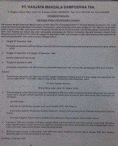 Contoh Surat Pemberitahuan