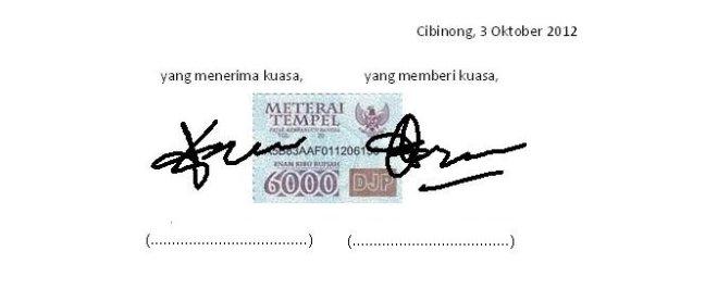 surat kuasa Menjual Barang Jaminan 1