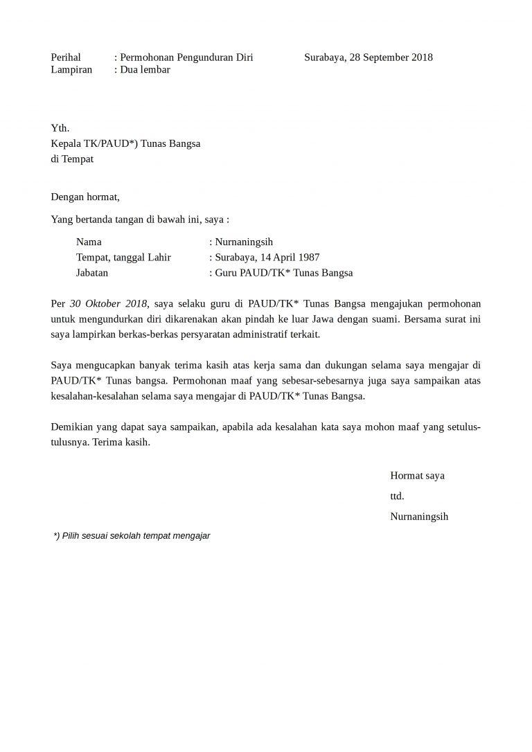 Download Surat Pengunduran Diri Karyawan : download, surat, pengunduran, karyawan, Contoh, Surat, Pengunduran, Formal, DetikLife