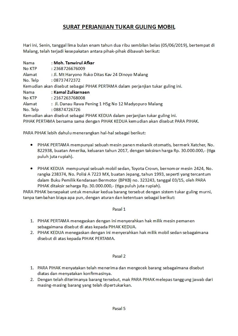 Contoh Surat Jual Beli Tanah Warisan Keluarga