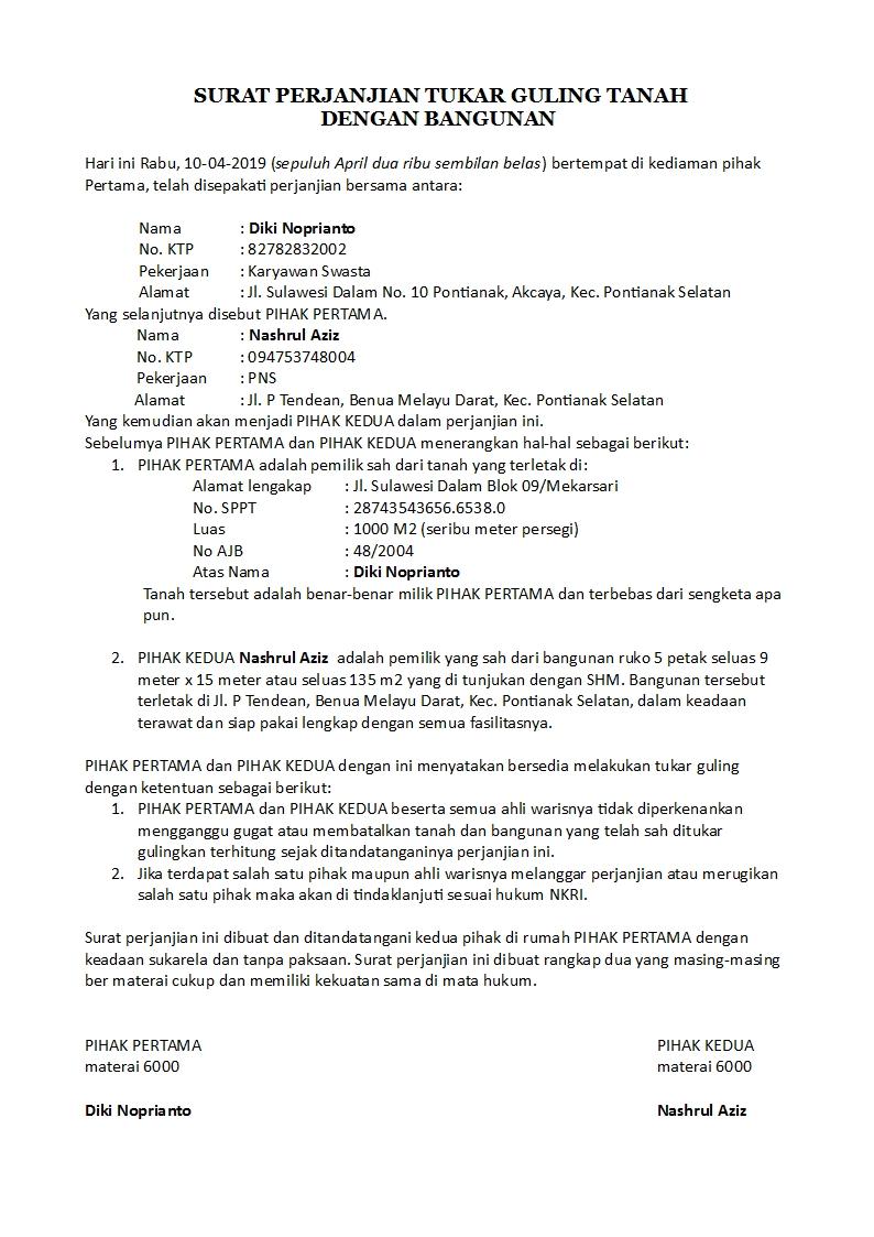 Contoh Surat Hibah Rumah - Gudang Surat