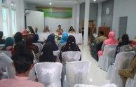 Suasana jalannya rangkaian kegiatan acara pembukaan pelatihan menjahit bagi Usaha Mikroi dan Kecil di Kabupaten Indragiri Hilir