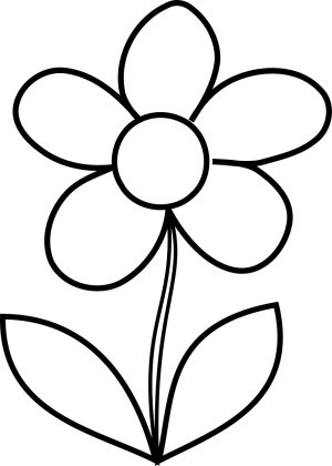 coloring pages flower printable drawing draw