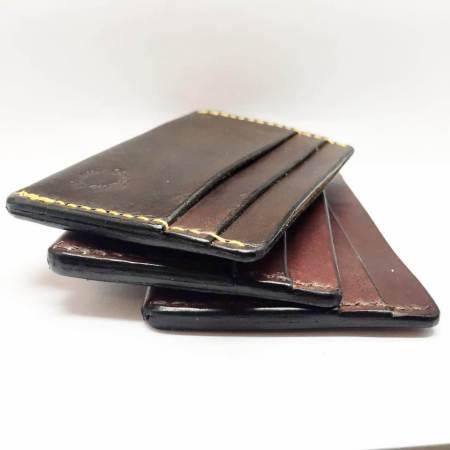 Kortholdere 3 brune - Det Lille Læderi