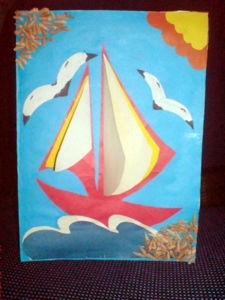 такой открытка кораблик на волнах оставить полностью или