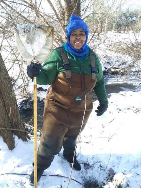 Tamika Jaja volunteering