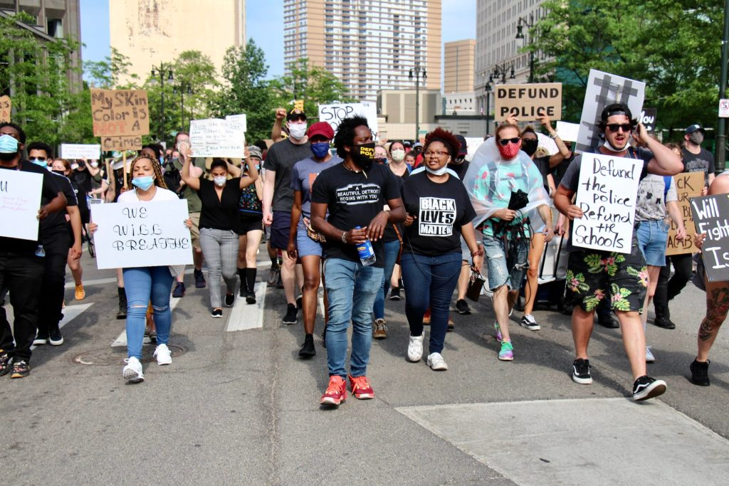 detroit activists at protest