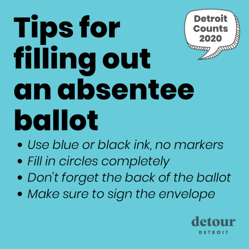 tips for filling out your absentee ballot