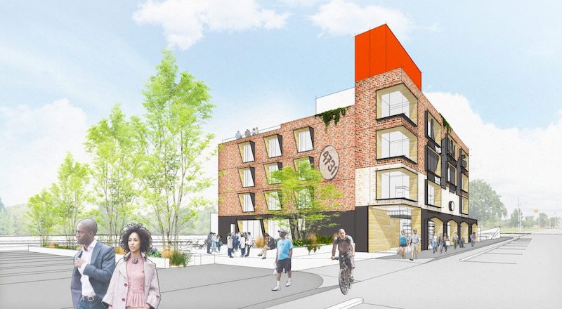 Rendering of the Love Building courtesy Designing Justice + Designing Spaces