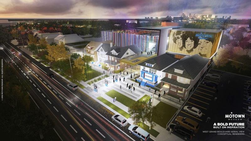 Motown Museum expansion rendering courtesy the Motown Museum