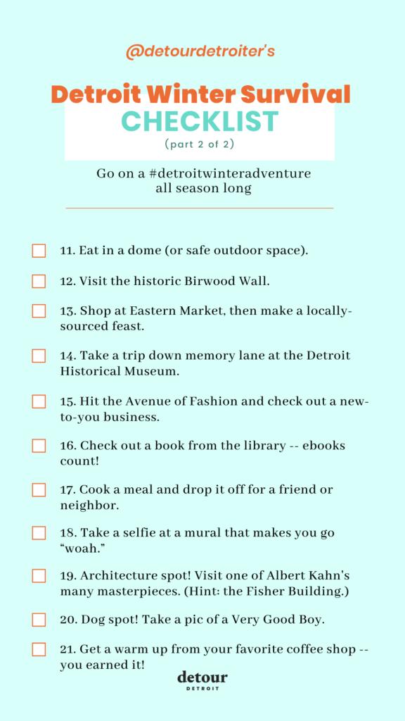 detroit winter activities checklist