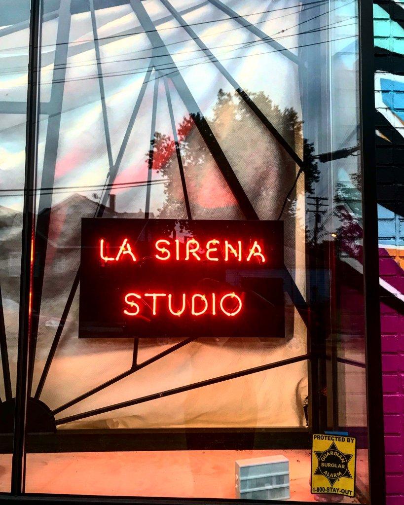 Sign at La Sirena Studio in southwest detroit