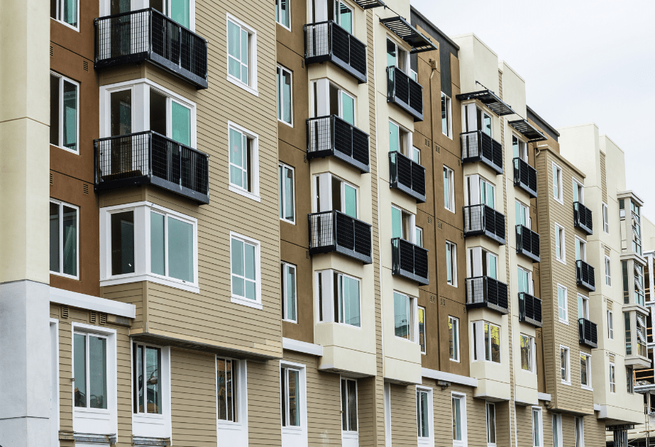 stock photo of apartment building